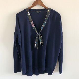 J. Crew x Abigail Borg Tie-Neck Sweater Large